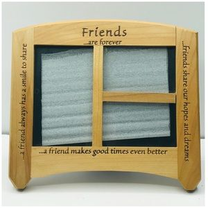 """Wooden Friendship Picture frame 9x7"""""""